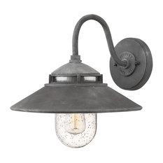 Hinkley Lighting Atwell Aged Zinc Small Outdoor Wall Sconce