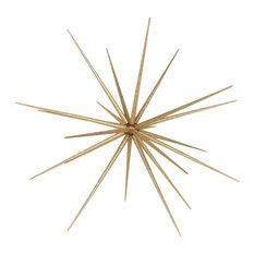 "40"" Starburst Ornament With Gold Glitter"