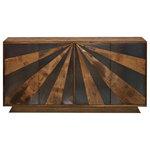 Basin and Vessel - Acala Sideboard - Walnut Finish on Mango Wood with Iron Detail | 4 Door