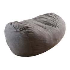modern bean bag furniture. gdfstudio david faux suede 8 foot lounger bean bag gray chairs modern furniture