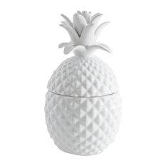 Decorative White Pineapple Box