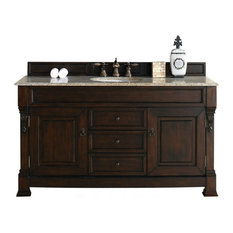"60"" Vanity Cabinet, Burnished Mahogany, No Counter Top"