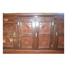 Antique Victorian mahogany sideboard, dining dresser base, server c. 1890-1900