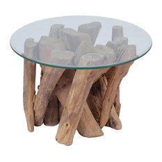 vidaXL - vidaXL Coffee Table With Solid Teak, 60 cm - Coffee Tables
