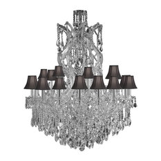 Empress Crystal Chandelier With Black Shades