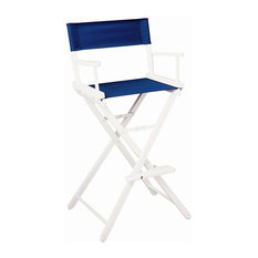 Gold Medal Chairs   30 In. Directoru0027s Chair W Riveted Legs W White Frame U0026