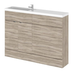 Combinations Compact Bathroom Vanity Unit, Driftwood, 120 cm
