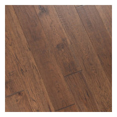 Hickory Hand Scraped Prefinished Engineered Wood Flooring, Forest, 1 Box