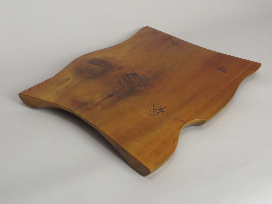 #15031 Hand-Carved Serving Tray. Reclaimed Heartwood Poplar