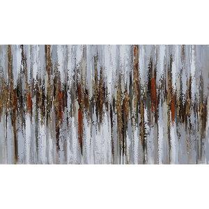 """GoldenOne"" Acrylic Painting, 140x65 cm"