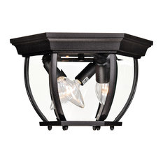 """Exterior Collections Outdoor Flush Mount, Black, 9"""""""