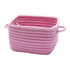"Simply Home Shelf Square Basket, 11""x11""x8"", Pink"