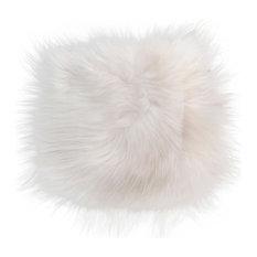 Natural 100% Icelandic Sheepskin Fur Seat Cover,, 15''x15'', White