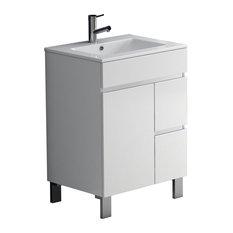 """Eviva Link 24"""" White Bathroom Vanity With Sink"""