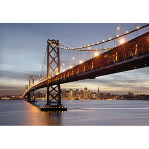 Bay Bridge Skyline Photo Wall Mural, 368x254 cm