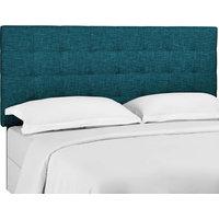 Modway Paisley Tufted Twin Upholstered Linen Fabric Headboard MOD-5846-TEA
