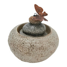 Stone Rock Cairn Water Fountain, Indoor Table Fountain