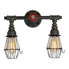 Industrial 2-Bulb Vanity Light