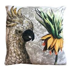Frittilaria Parrot Velvet Cushion