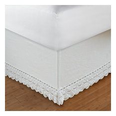 """Greenland Crochet Lace Twin Bed Skirt 18"""", Twin"""