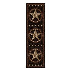 """Western Star Rug, 2'3""""x7'7"""""""