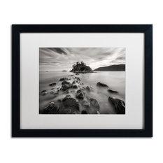 Pierre Leclerc 'Whytecliff Park Bw' Matted Framed Art, Black Frame, White, 20x16