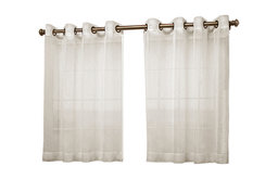 """Bal Harbour Softly Woven Short Length Curtain Panel, Ivory, 52""""x36"""""""