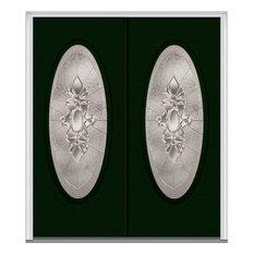 "Heirloom Master Large Oval Steel, Hunter Green, 66""x81.75"", Left"