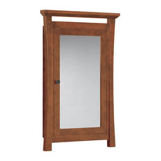 """Sachi 25""""x39"""" Wood Framed Medicine Cabinetith Mirror and Shelf, Natural Cherry"""