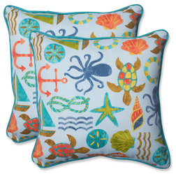 Beach Style Outdoor Cushions And Pillows by Pillow Perfect Inc