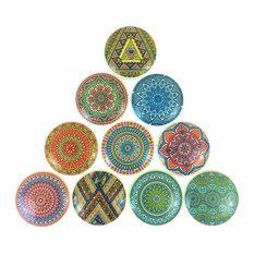 10 Piece Set, Bohemian Tribal Cabinet Knobs