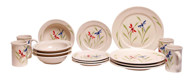 Dragonfly Classic Dinner Set for 4  sc 1 st  Houzz & Dragonfly Classic Dinner Set for 4 - Dinnerware Sets - by Emerson ...
