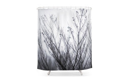 Winter Fog And Branches Bathroom Shower Curtain - 71  by 74