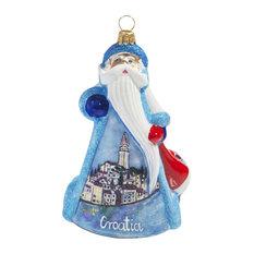 Croatia Santa Ornament