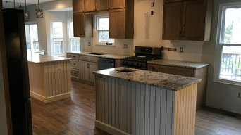 Worthington, OH wall removed to create double island kitchen