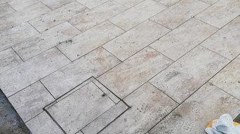Massetto pavimentazione in gres costruzione muro assistenza montaggio cancellett