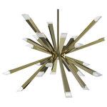 "Blackjack Lighting - Optional 24"" Downrod Stem Section, Etched Gold - 24"" Stem Downrod, Etched Gold"