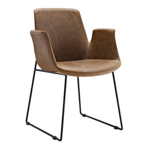 Aloft Dining Faux Leather Armchair, Brown