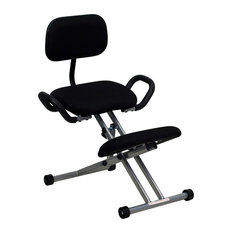 flash furniture ergonomic kneeling chair with handles in black displayed office chairs asian office furniture