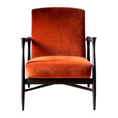 Noir Matte Floating Armchair, Fox Orange