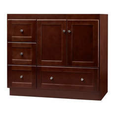 "Ronbow Essentials Shaker 36"" Bathroom Vanity Cabinet Base, Dark Cherry"