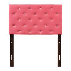 Crystal Inspired Tufted Headboard, Pink, Twin