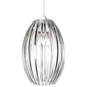 Dorney Non Electric Acrylic Pendant Shade, Clear