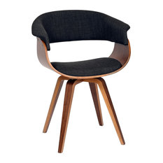 Lovely Armen Living   Summer Modern Chair, Charcoal Fabric And Walnut Wood    Armchairs And Accent