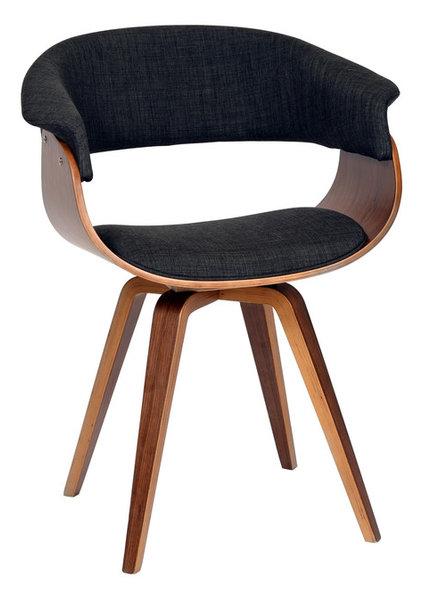 Summer Modern Chair Charcoal Fabric And Walnut Wood Scandinavian Armchairs And