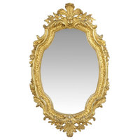 Consigned French Louis XV Style Gold Wall Mirror, 19th Century