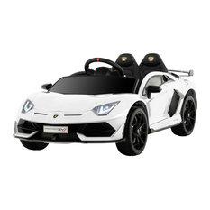 12V Kids Electric Ride On Car Lamborghini Motorized Vehicles, White