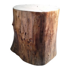 Driftwood Stool With Varnished Sides
