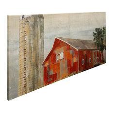 Barnside Silo, Canvas Wall Art