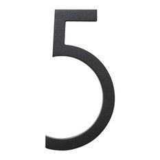 """Modern Black House Number, 8"""" SoCal 5"""